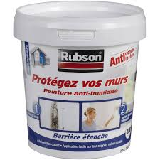 humidité mur intérieur chambre peinture antihumidité protégez vos murs rubson blanc 0 75 l leroy