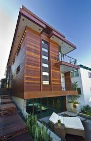 natural modern design of the wood balcony design that has nice