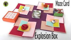 gift card maze maze explosion box card diy tutorial by paper folds