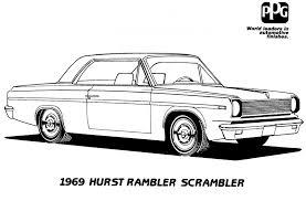 rambler scrambler mopar coloring book