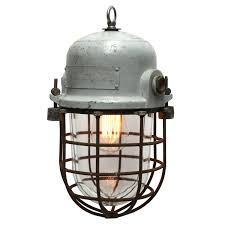 Cage Light Pendant Vintage Industrial Cage Trouble Light Pendant With Reflector