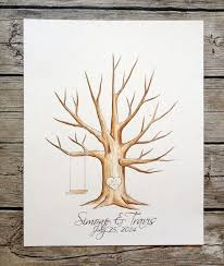 tree signing for wedding original wedding tree guestbook guest book fingerprint