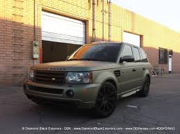 matte range rover range rover sport hse wrapped in frozen green midnight sand matte
