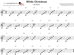 white christmas guitar chords sheet music guitarnick com