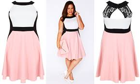 plus size fashion find of the day color block skater dress from