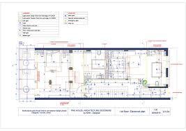 cad drafting u2013 service building ground floor plan u2013 9 dots studio