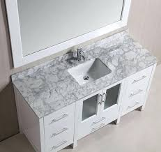 60 Bathroom Vanity Top Single Sink by Vanities White Single Sink Vanity Design Element London 54 In