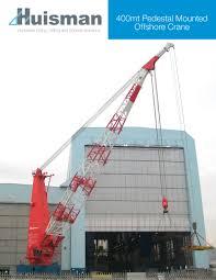 Pedestal Crane 400mt Pedestal Mounted Offshore Crane Huisman Pdf Catalogues