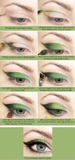 green eyeshadow tutorial for blue eyes