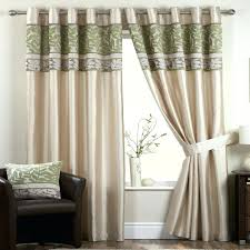 Beige And Green Curtains Decorating Codingslime Me