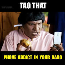 suryanfm tag that phone addict in your gang if you want