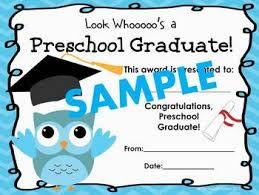 preschool certificates preschool graduation certificates owl theme by the peanut gallery