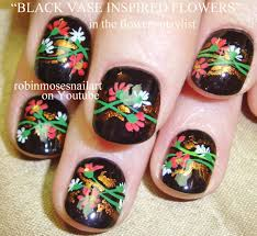 robin moses nail art red and blue flower nails cutest flower