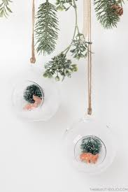 diy christmas hanging terrariums