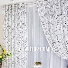 White Contemporary Curtains White Patterned Floral Cheap Discount Contemporary Funky Simple