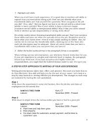 Resume Paragraph Format Teenlife Guide To Writing Resumes