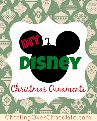 chatting chocolate diy disney ornaments
