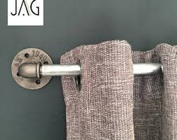 industrial curtain rod short industrial chic pipe curtain