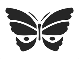 traditional butterly stencil with open wings