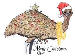 aussie christmas card emu by heather briana santa u0026 christmas