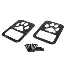 jeep accessories lights details about 2x rear tail light covers dog paw trim guards for