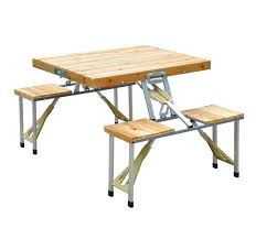 wooden picnic table bench seat outdoor portable folding camping