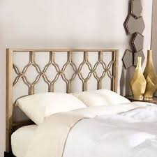 King Metal Headboard Gold Geometric Hexagon King Metal Headboard Bed