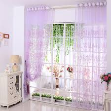 Purple Sheer Curtains Amazing Purple Sheer Curtain Embellished With Sequin Ornament And