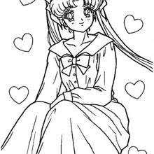sailor jupiter warrior coloring pages hellokids