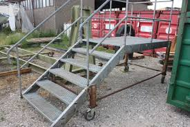 Landing Handrail Height Stair Landing On Wheels Height To The Landing About 115 Cm Repos