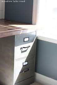 Diy File Cabinet Desk by Butcher Block Desk Top Meadow Lake Road