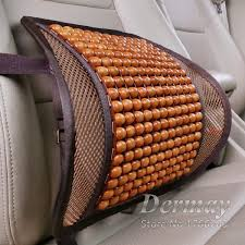 luxury wooden bead seat back lumbar support cushion for car office