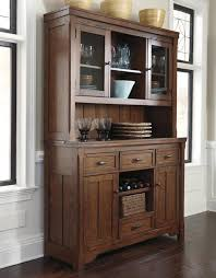 Oak Hutch And Buffet by Signature Design By Ashley Chimerin Burnished Oak Dining Buffet