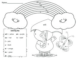 sight word coloring pages christmas free worksheets template