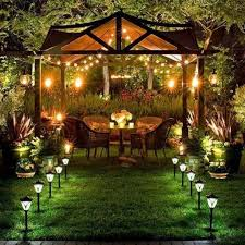 Outdoor Walkway Lights by Enhance Your Backyard Landscape With Solar Outdoor Lighting With
