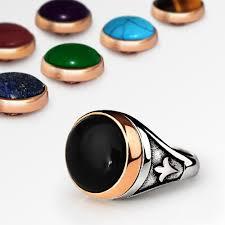 gem stones rings images Changeable gemstones men 39 s ring in 925 sterling silver j f m jpg