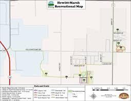 Wisconsin Cities Map by Hewitt Marsh Trail Map Village Of Hewitt Wisconsin