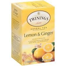 ginger twinings of london lemon u0026 ginger tea bags 20 ct walmart com