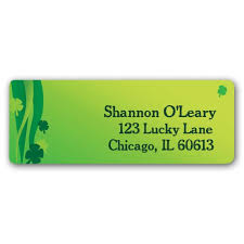 st patty cheers return address labels paperstyle