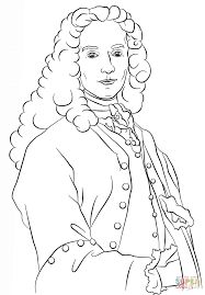 voltaire coloring page free printable coloring pages