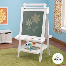 amazon com kidkraft deluxe wood easel white toys u0026 games