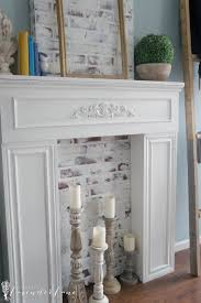 painting our faux fireplace seeking lavendar lane