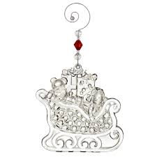 waterford wonders sleigh ornament 2017 silver