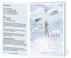 church programs template church bulletins templates 14 best printable church bulletins