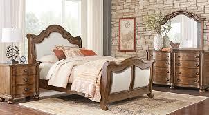 thornbury pecan 5 pc king upholstered bedroom king bedroom sets