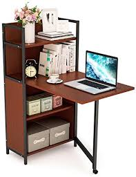 small teak writing desk amazon com tribesigns folding computer desk with bookshelves pc
