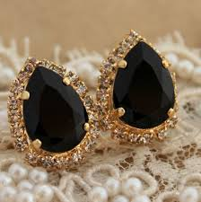trendy gold earrings black and gold earrings styles for trendy trends4us