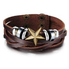 leather hand bracelet images Men vintage jewelry hand woven leather bracelet luxury brand jpg