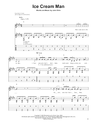 ice cream man sheet music by van halen guitar tab play along