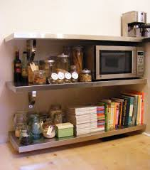 kitchen diy kitchen shelves with stainless steel stand three
